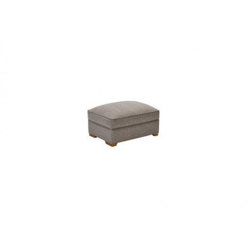 California Large Storage Footstool in Civic Smoke