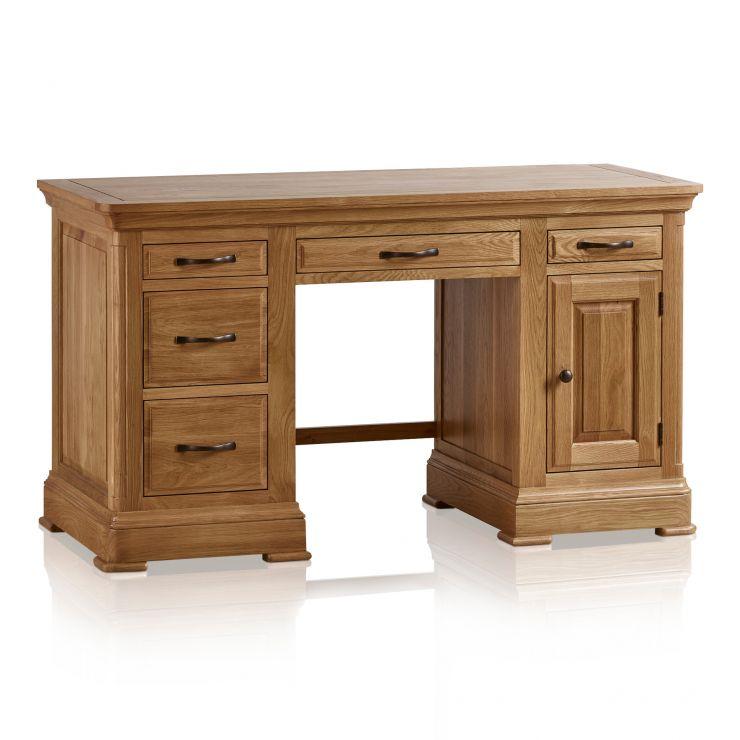 canterbury computer desk solid oak oak furniture land. Black Bedroom Furniture Sets. Home Design Ideas