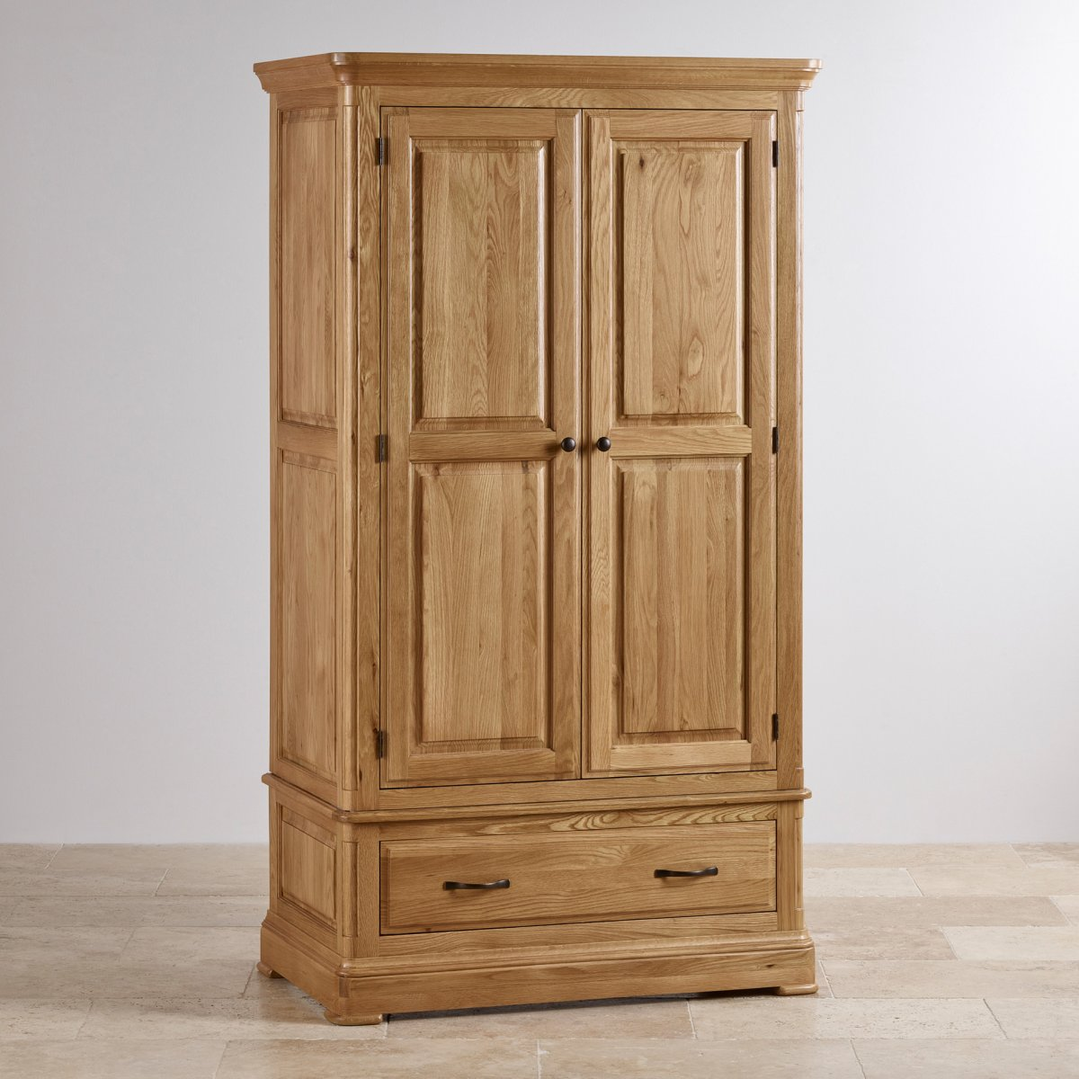 canterbury double wardrobe natural oak oak furniture land. Black Bedroom Furniture Sets. Home Design Ideas