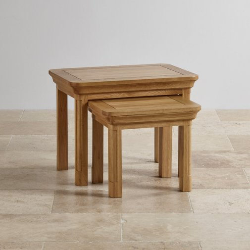 Nest Of Tables Up To 50 Off Oak Furniture Land