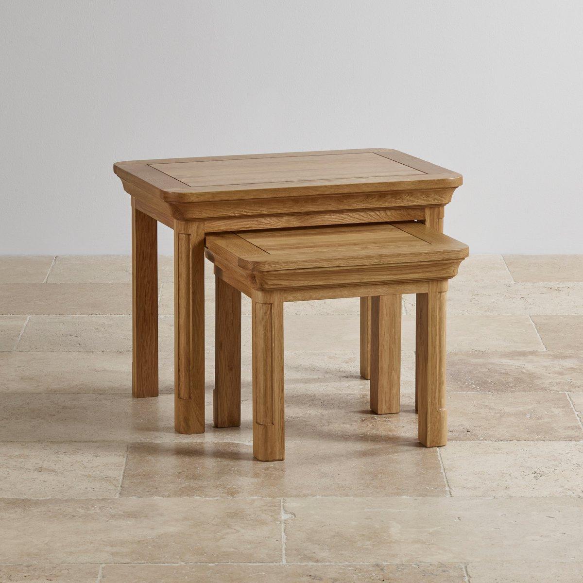 canterbury solid oak nest of tables oak furniture land. Black Bedroom Furniture Sets. Home Design Ideas