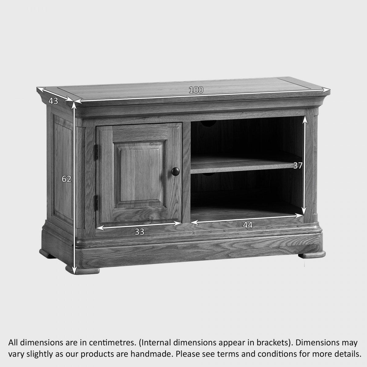canterbury tv cabinet solid oak oak furniture land. Black Bedroom Furniture Sets. Home Design Ideas