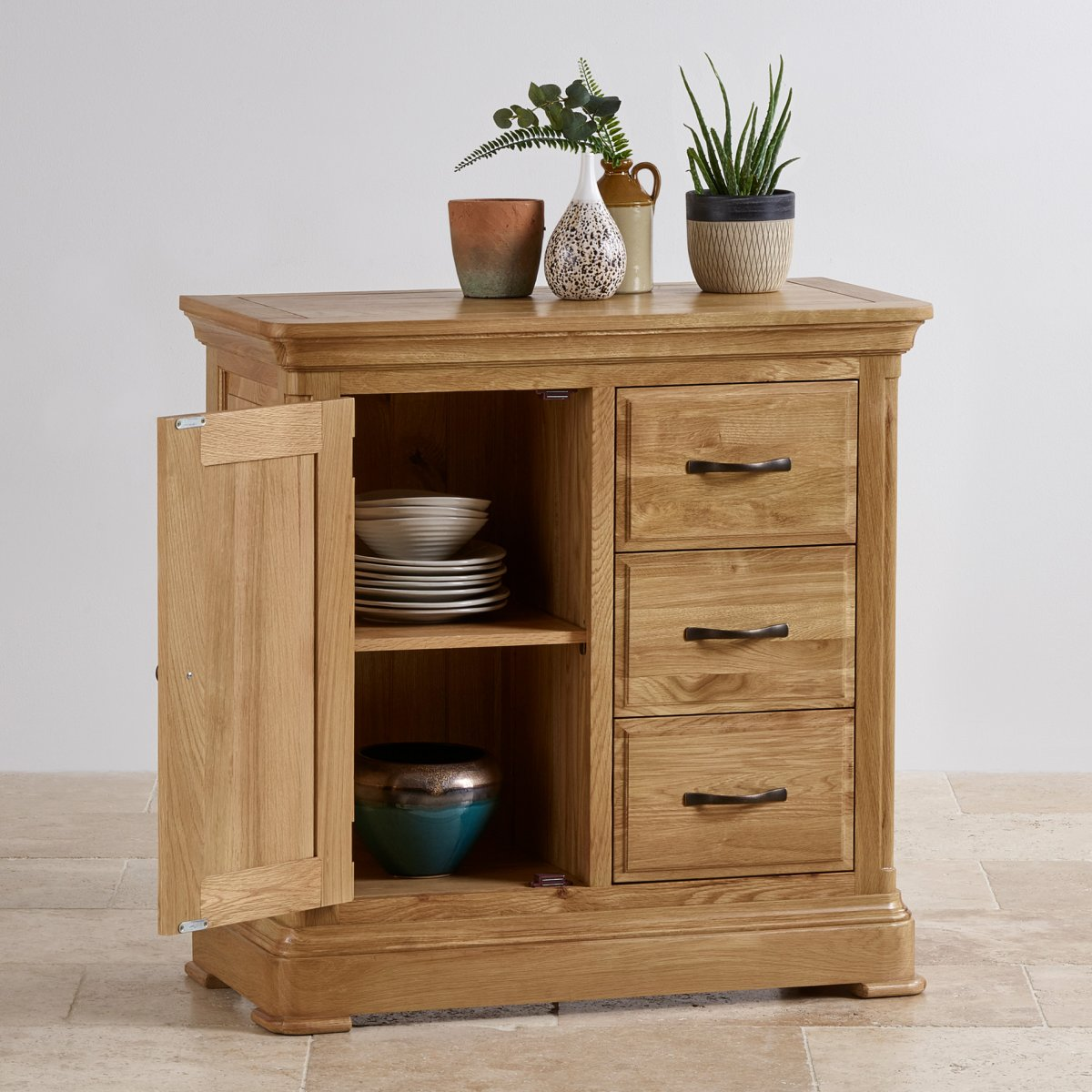 Natural Oak Kitchen Cabinets: Canterbury Storage Cabinet In Natural Solid Oak