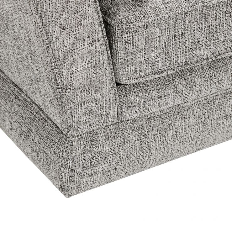 Carrington 3 Seater Sofa Stylish Silver Fabric