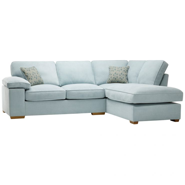 Left Hand Corner Sofas For Sale: Chelsea Corner Sofa Bed In Cosmo Duck Egg Fabric