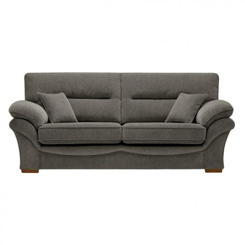 Chloe 3 Seater Sofa High Back in Mizuna Fabric - Duck Egg