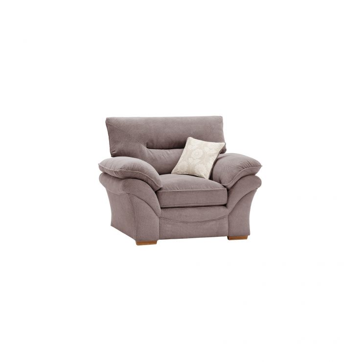 Chloe Armchair In Taupe Oak Furniture Land