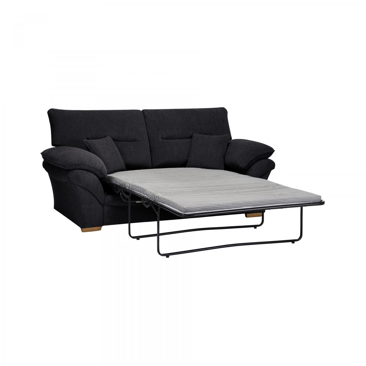 Chloe 2 seater standard sofa bed in black fabric for Sofa bed 2 seater