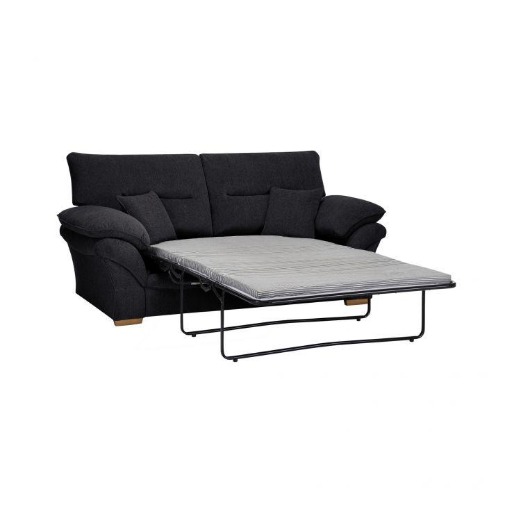 Chloe 2 Seater Standard Sofa Bed In Black Fabric