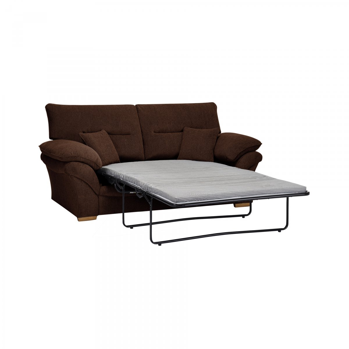 Chloe 2 Seater Standard Sofa Bed In Brown Fabric