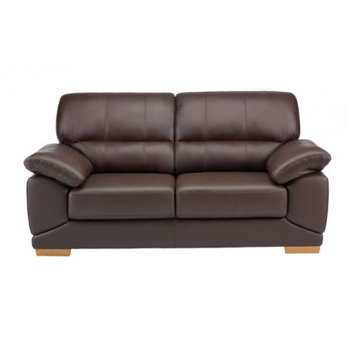 Clarence 3 Seater Sofa - Brown Leather