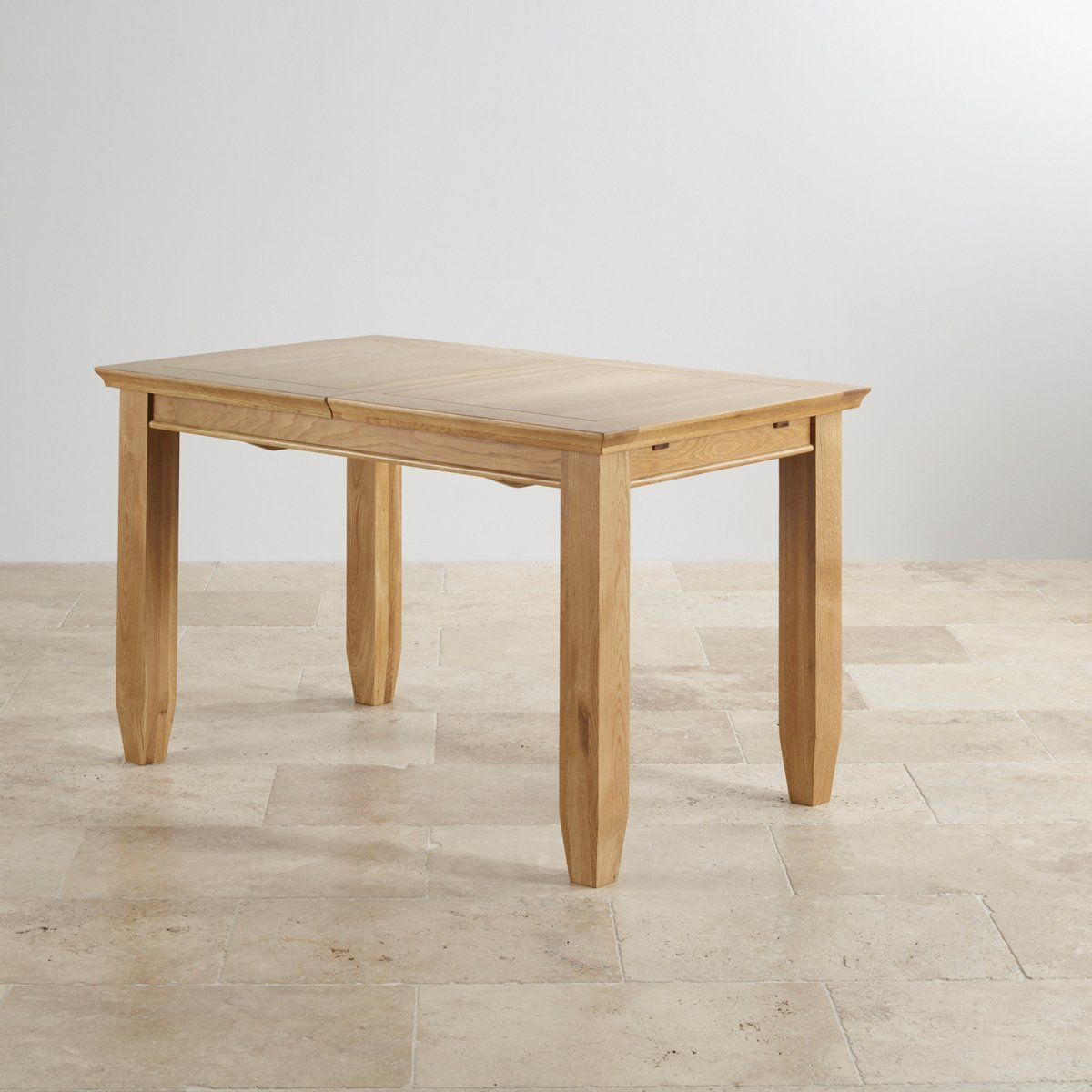 Classic 4ft 3 x 2ft 7 extending oak dining table - Oak dining table uk ...