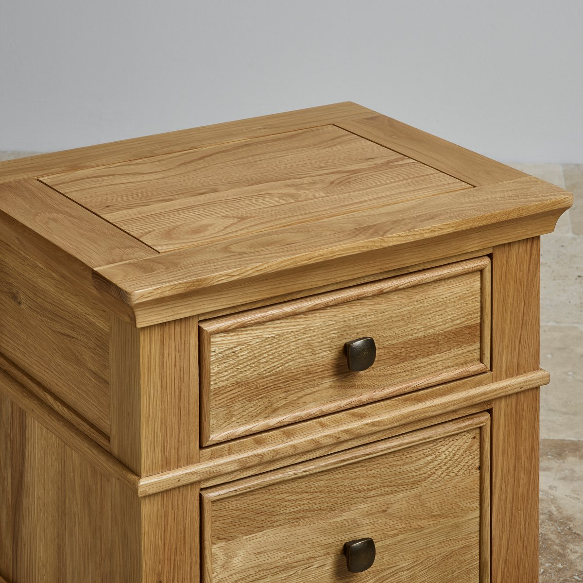 Classic 2 Drawer Bedside Table In Natural Solid Oak