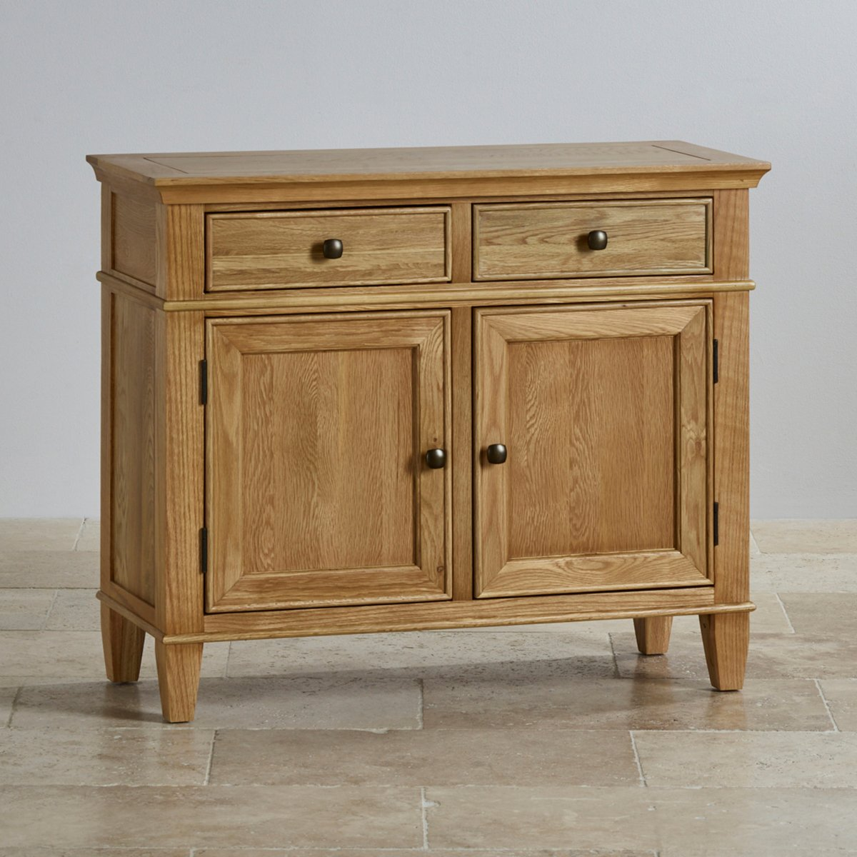 Classic Small Sideboard In Natural Solid Oak Oak Furniture Land