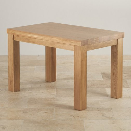 "Contemporary Chunky 4ft x 2ft 6"" Natural Solid Oak Dining Table"