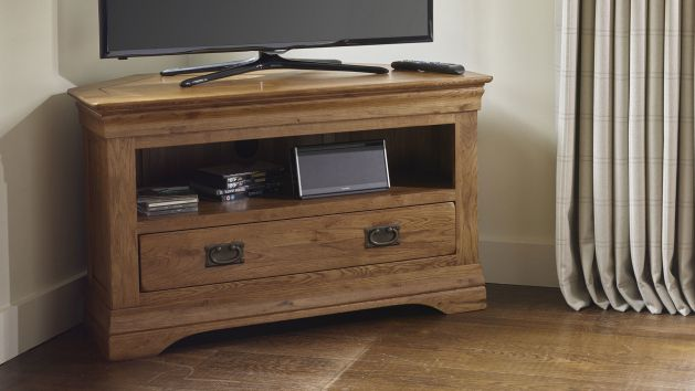 Corner Tv Cabinets And Corner Tv Units Oak Furniture Land