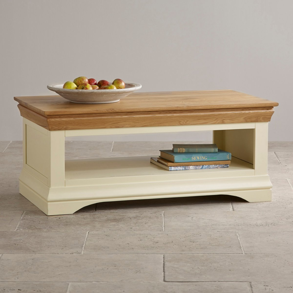 Country Cottage Coffee Table In Painted Oak Oak