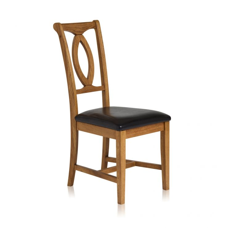 Cool Crawford Rustic Solid Oak And Black Leather Dining Chair Alphanode Cool Chair Designs And Ideas Alphanodeonline