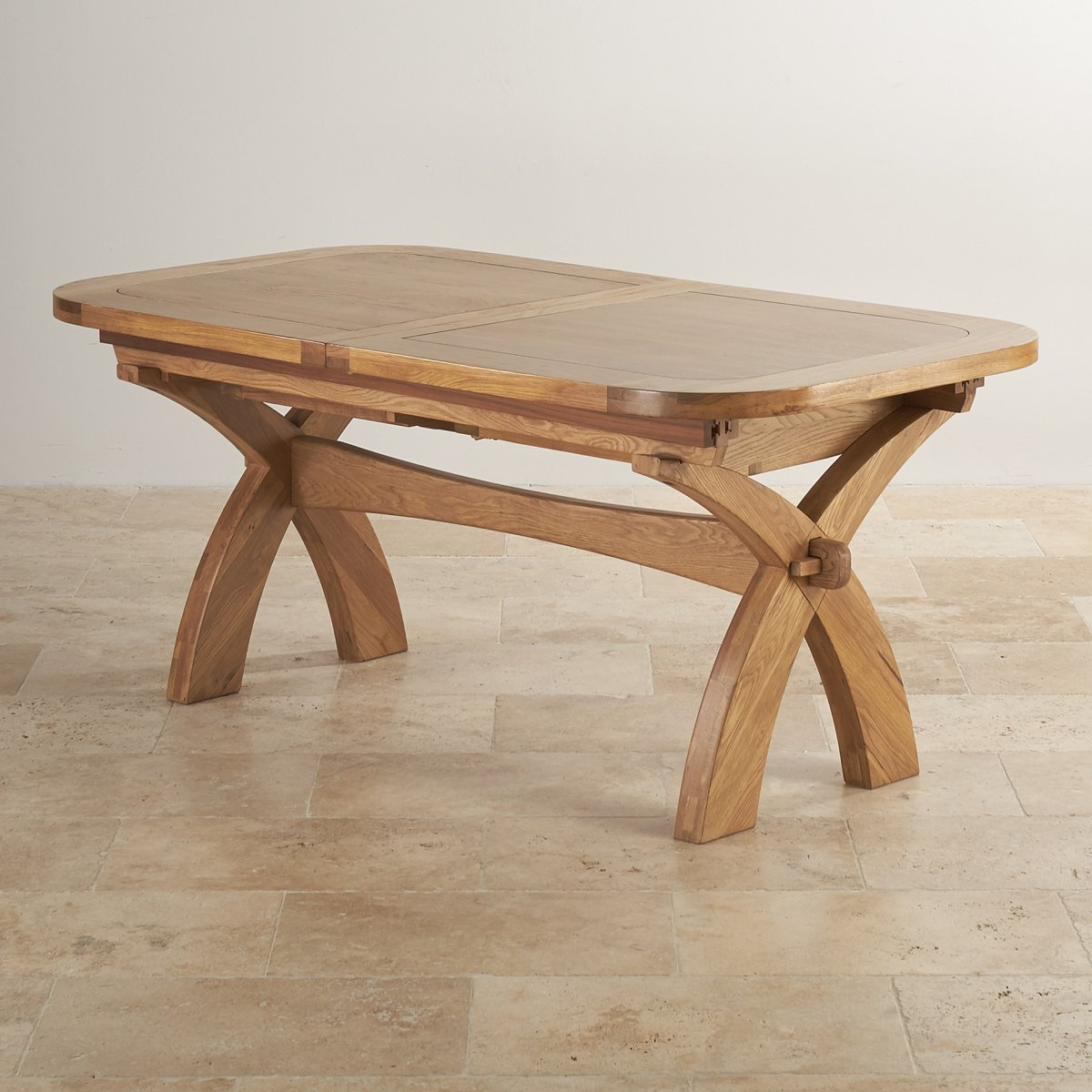Hercules 6ft extending dining table in oak oak furniture for Oak dining table
