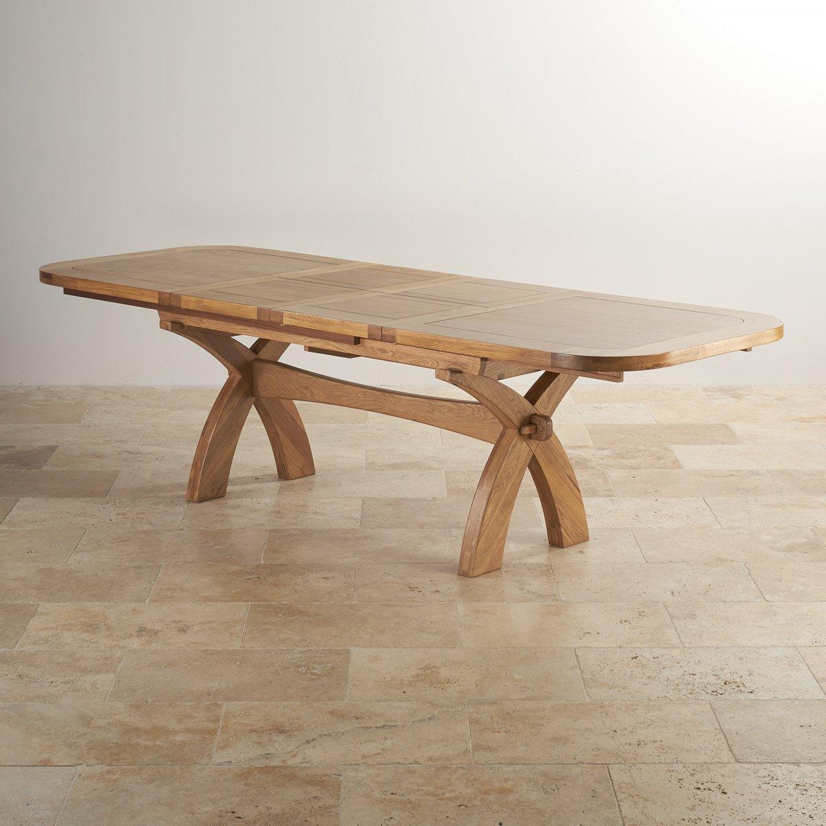 Hercules 6ft Extending Dining Table In Oak Oak Furniture