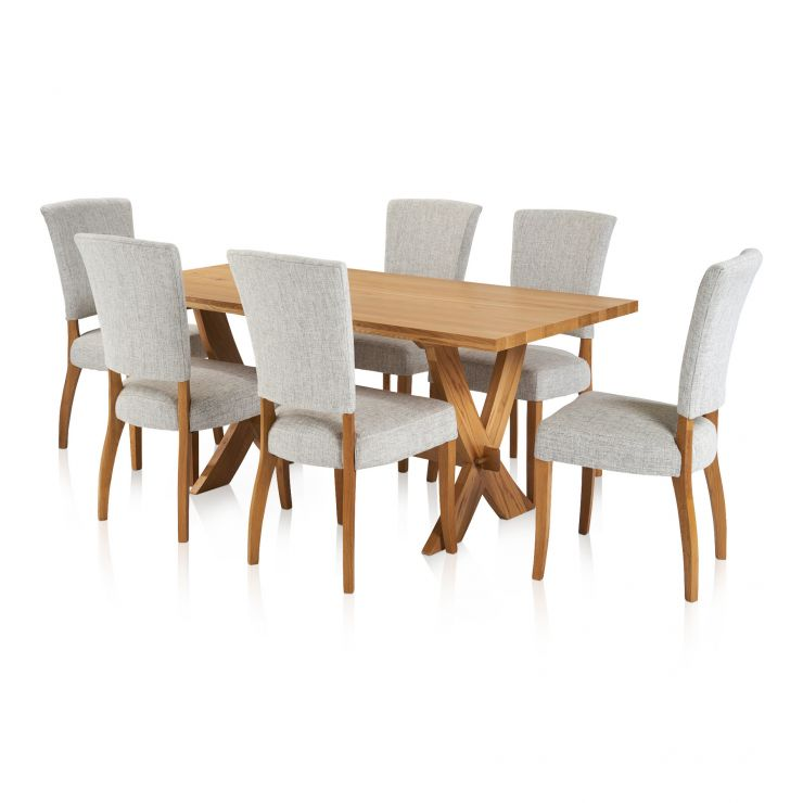 Crossley Dining Table Chairs Modern Farmhouse Style With 6 Plain