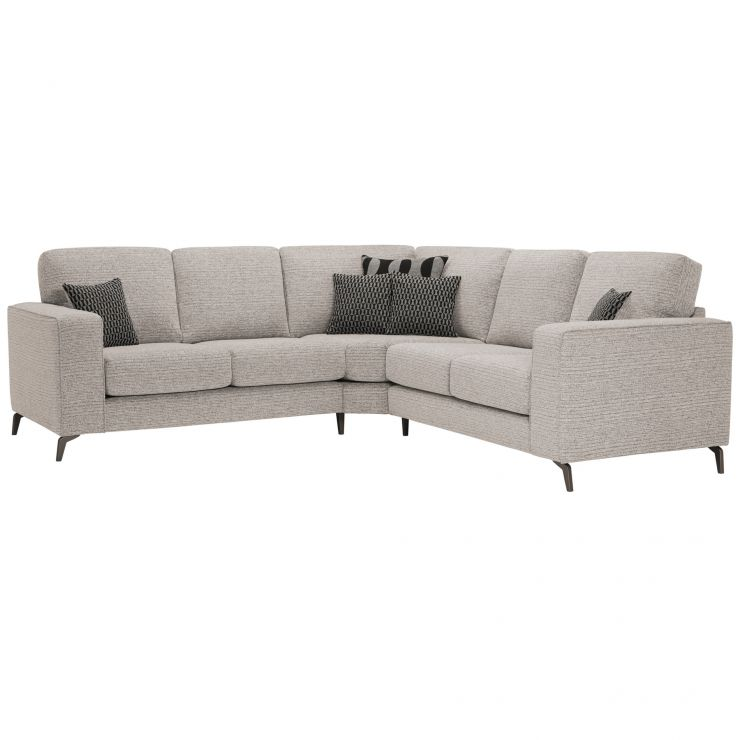 Cube 2 x 2 Stone Corner Sofa in Fabric