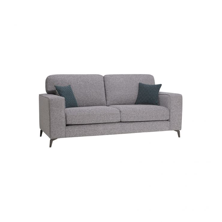Super Cube Grey 3 Seater Sofa In Fabric Short Links Chair Design For Home Short Linksinfo