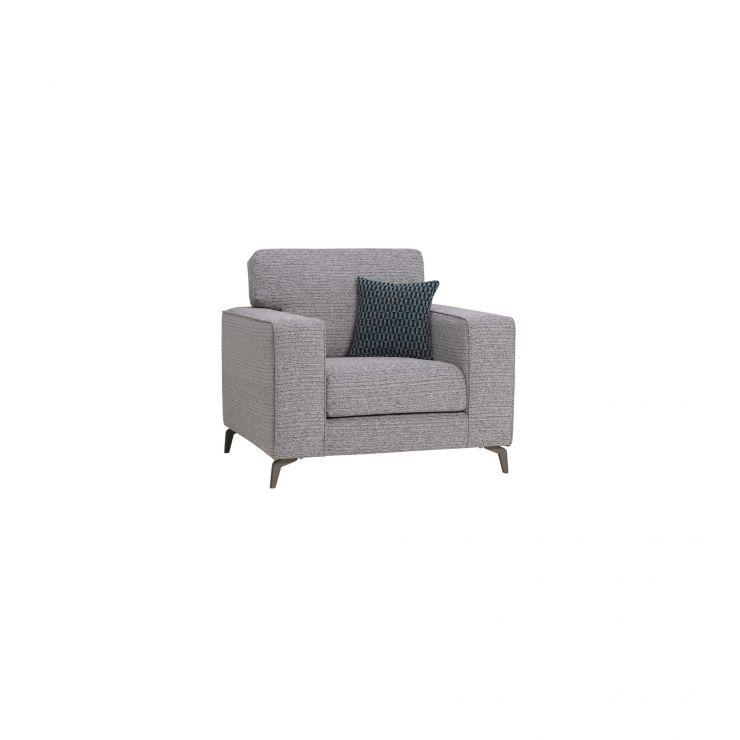 Cube Grey Armchair In Fabric Oak Furnitureland