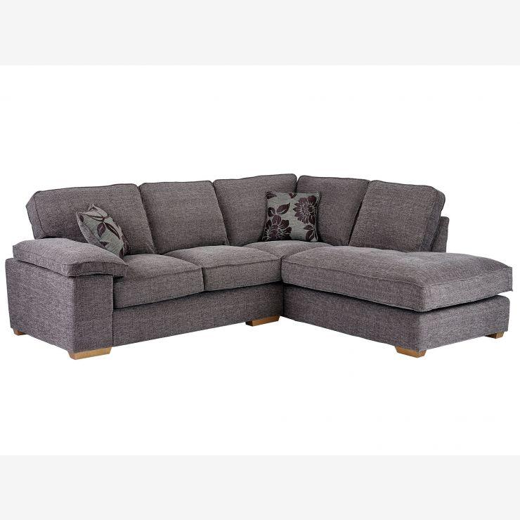 Grey Fabric Left Hand Corner Sofa: Denver Left Hand Facing Corner Grey Barley