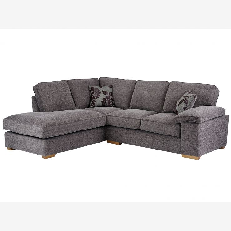 What Does Right Hand Corner Sofa Mean: Denver Right Hand Facing Grey Barley Fabric Corner Sofa