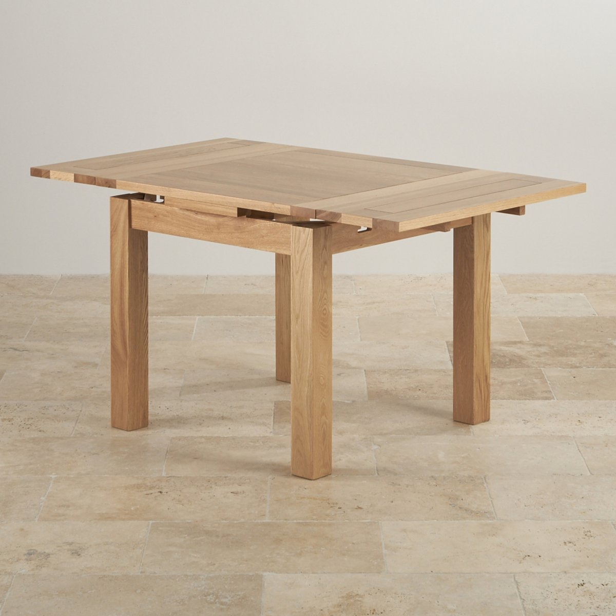 Dorset 3ft x 3ft natural oak extending dining table seats for Dining table to seat 20