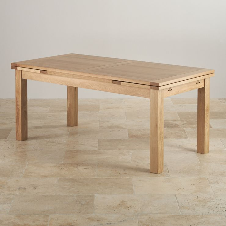 Dorset Extending Dining Table In Natural Oak Oak Furniture Land