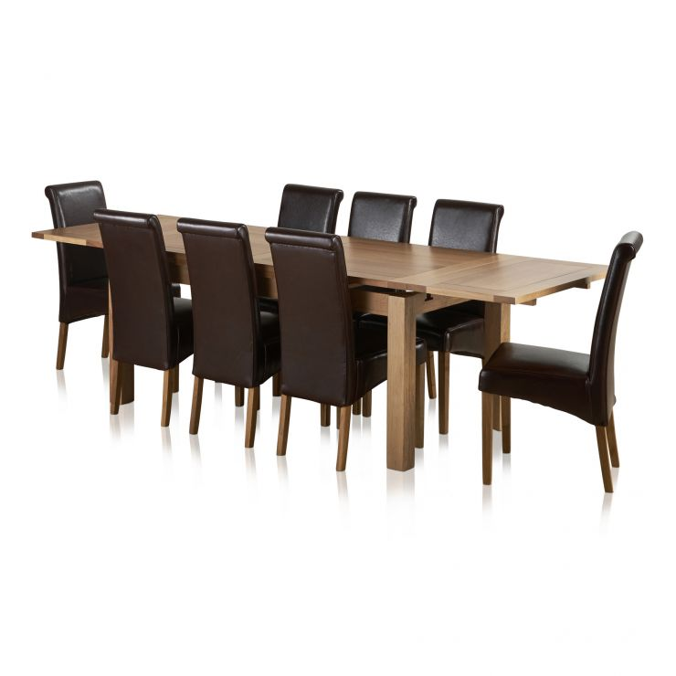 Dorset Oak Dining Set 6ft Table With 8 Chairs