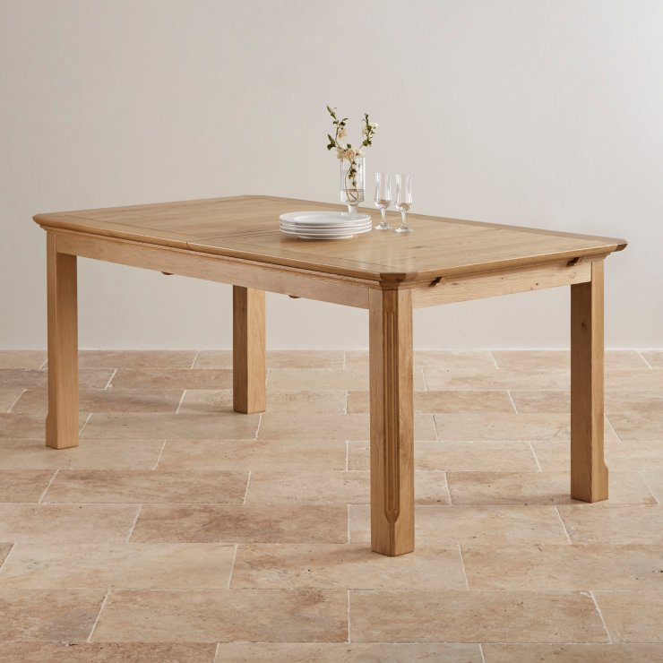 Edinburgh Extending Dining Set In Oak Dining Table 6 Chairs: Edinburgh 6ft X 3ft Extending Dining Table In Natural Oak