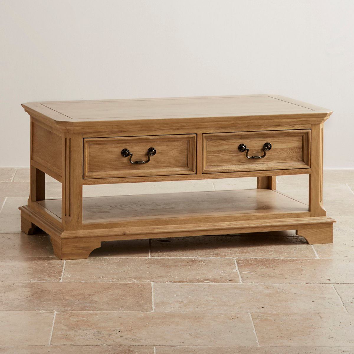 edinburgh coffee table in natural solid oak oak