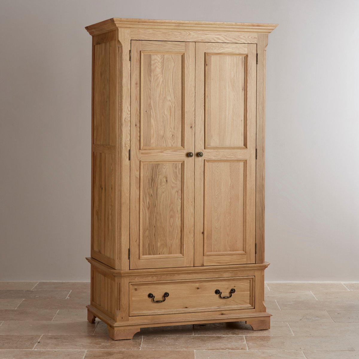 Double Wardrobe In Natural Solid Oak