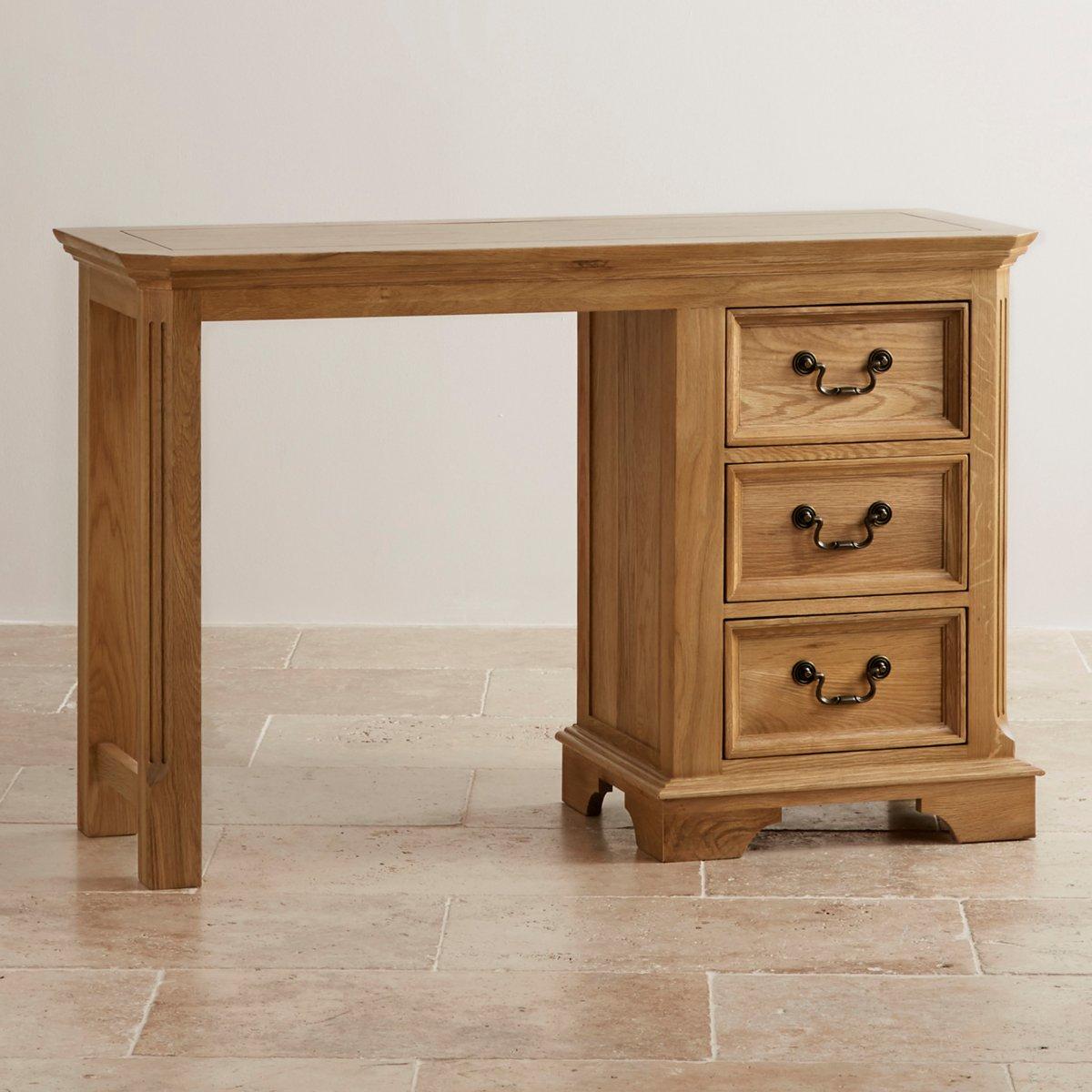 Edinburgh Natural Solid Oak Dressing Table By Oak