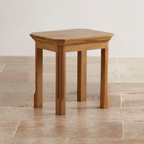 Edinburgh Natural Solid Oak Dressing Table Stool