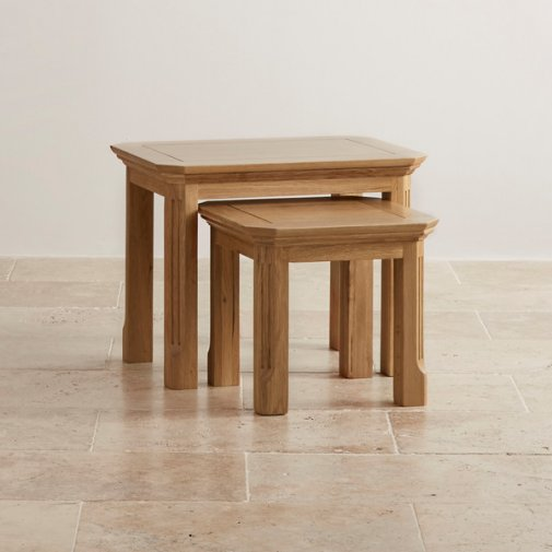 Edinburgh Natural Solid Oak Nest of Tables