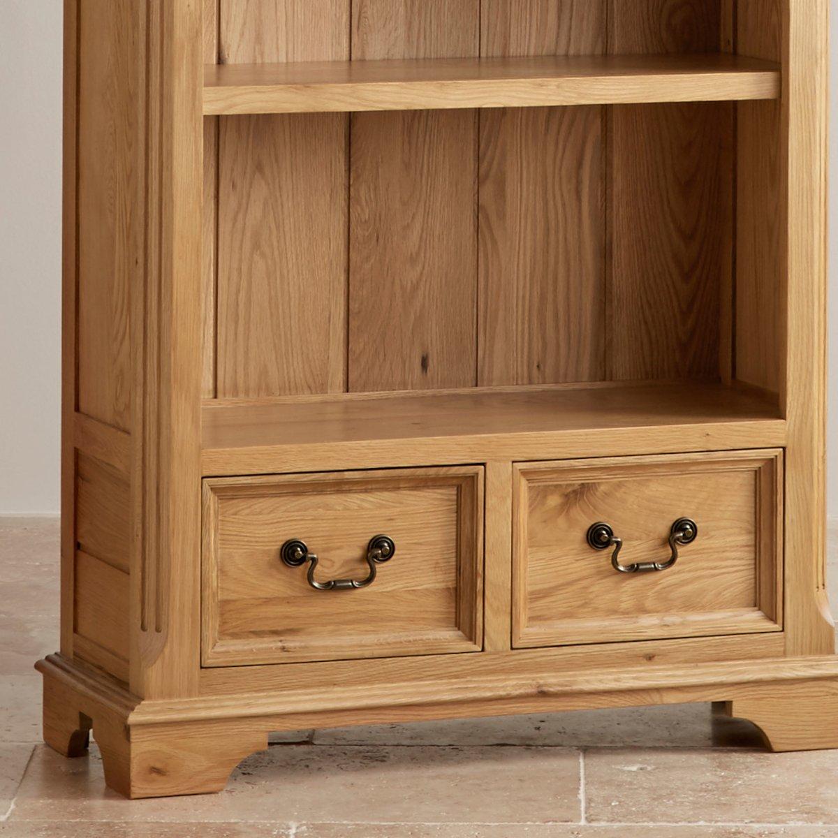 Edinburgh Tall Bookcase In Natural Solid Oak Oak