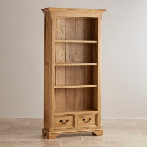 Edinburgh Natural Solid Oak Tall Bookcase