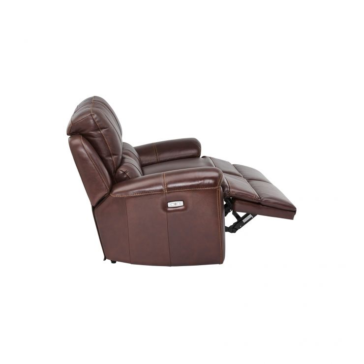 Finley 2 Seater Electric Recliner Sofa Two Tone Brown
