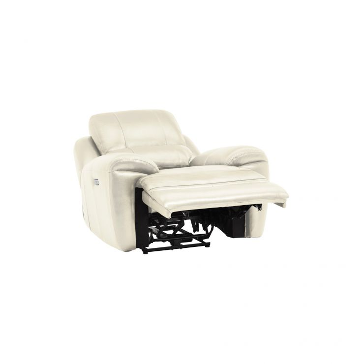 Finley Electric Recliner Armchair Cream Leather