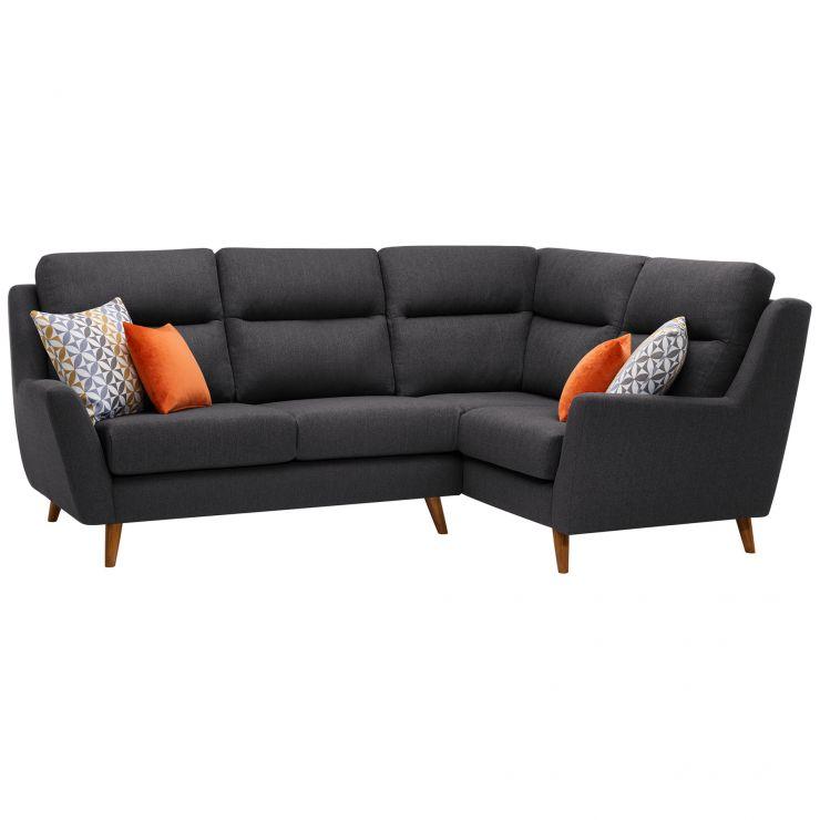 Fraser Corner Sofa In Charcoal Left Hand Facing