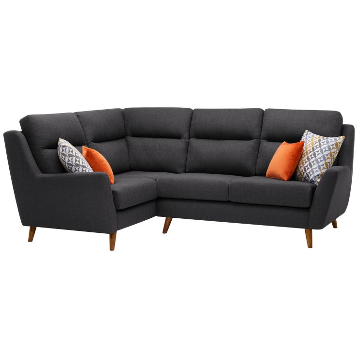 Fraser Right Hand Corner Sofa In Charcoal Fabric