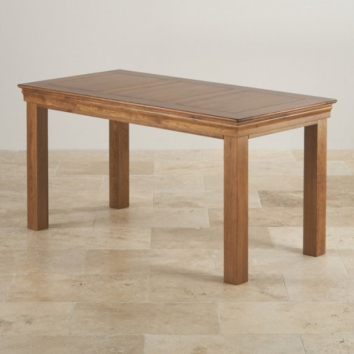 "French Farmhouse Rustic Solid Oak 5ft x 2ft 6"" Dining Table"
