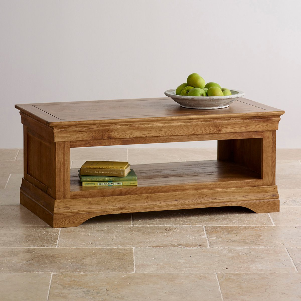 French Farmhouse Coffee Table In Solid Oak Oak Furniture Land