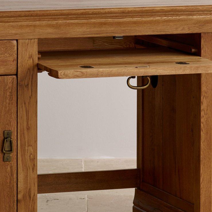 French farmhouse computer desk solid oak oak furniture for Farmhouse rustic oak