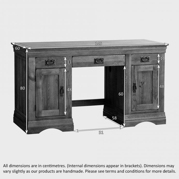 French Farmhouse Computer Desk Solid Oak Oak Furniture