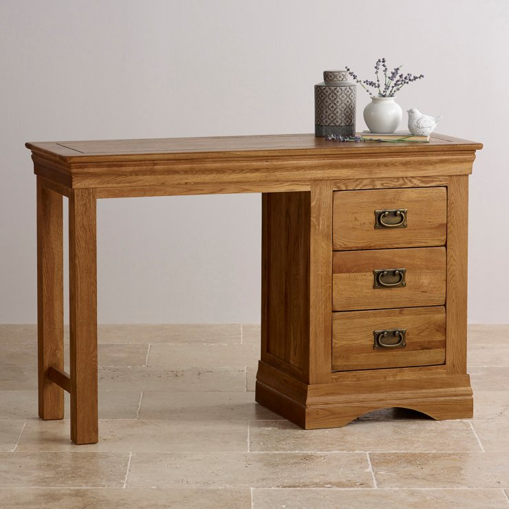 French Farmhouse Dressing Table in Solid Oak